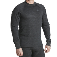 Jumper Wool Original with round neck grey melange